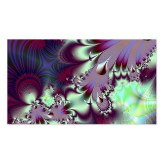 Plumule · Fractal Art · Purple & Aqua Double-Sided Standard Business Cards (Pack Of 100)