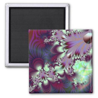 Plumule · Fractal Art · Purple & Aqua Magnet