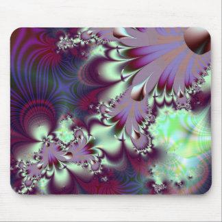 Plumule · Fractal Art · Purple & Aqua Mouse Pad