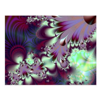 Plumule · Fractal Art · Purple & Aqua Postcard