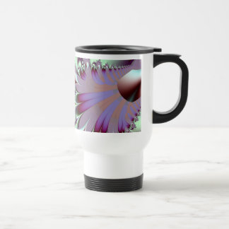 Plumule · Fractal Art · Purple & Aqua Travel Mug