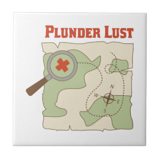 Plunder Lust Small Square Tile