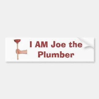 plunger, I AM Joe the Plumber Bumper Sticker
