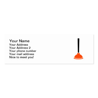 Plunger plumber business card template