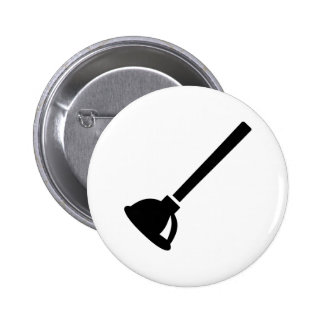Plunger plumber button