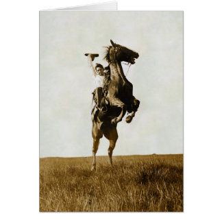 Plunging Broncho Bar Diamond Bar Range Greeting Card