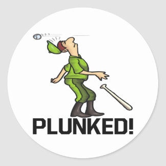 Plunked Classic Round Sticker