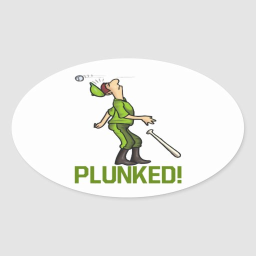 Plunked Oval Sticker