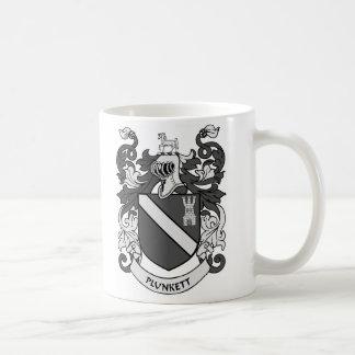 PLUNKETT Coat of Arms Classic White Coffee Mug