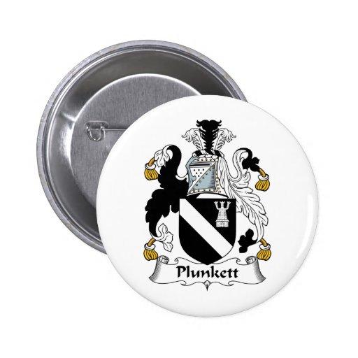 Plunkett Family Crest Buttons