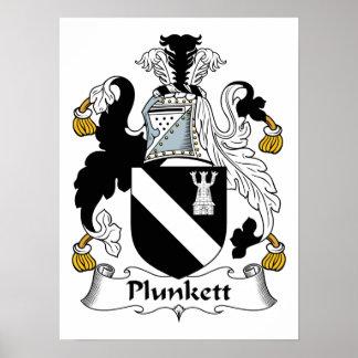 Plunkett Family Crest Poster
