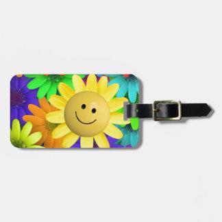 plur floral etiquetas para equipaje