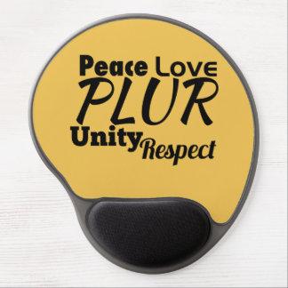 PLUR - Paz, amor, unidad, respecto Alfombrilla Gel