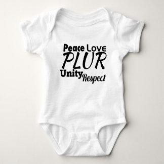 PLUR - Paz, amor, unidad, respecto Body Para Bebé