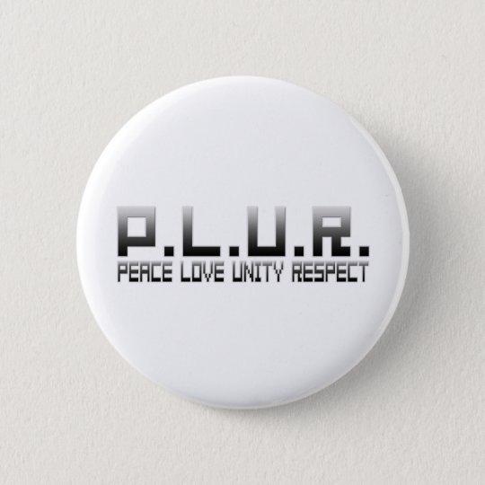 PLUR - Peace Love Unity Respect Button