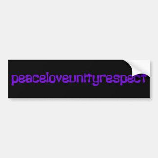 PLUR Peace Love Unity Respect Rave Purple Letters Bumper Sticker