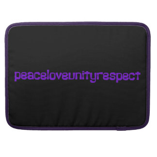 PLUR Peace Love Unity Respect Rave Purple Letters Sleeves For MacBook Pro