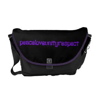 PLUR Peace Love Unity Respect Rave Purple Letters Courier Bags