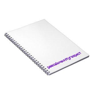 PLUR Peace Love Unity Respect Rave Purple Letters Note Book