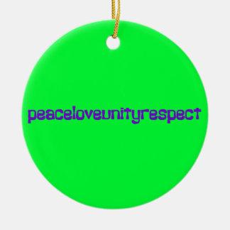 PLUR Peace Love Unity Respect Rave Purple Letters Ornament