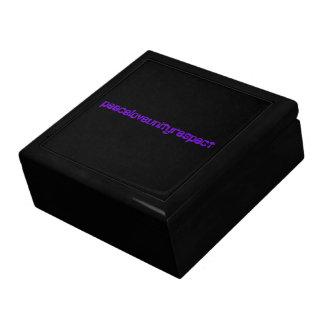 PLUR Peace Love Unity Respect Rave Purple Letters Trinket Box