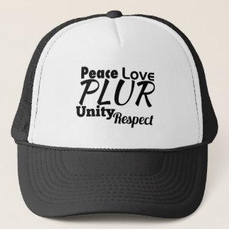 PLUR - Peace, Love, Unity, Respect Trucker Hat