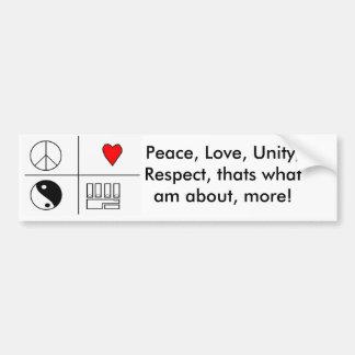 PLUR PIC, Peace, Love, Unity, Respect, thats wh... Car Bumper Sticker