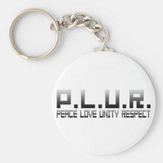 PLUR - Respecto de la unidad del amor de la paz Llavero Personalizado