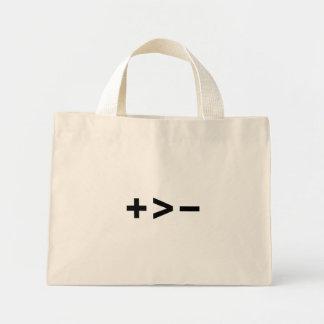 Plus Greater Than Minus Bag