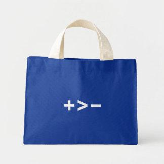 Plus Greater Than Minus (White) Bag