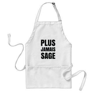 Plus Jamais Sage - I'll Never Be Good Again Adult Apron