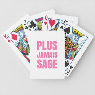 Plus Jamais Sage - Naughty Girl or Boy Bicycle Playing Cards