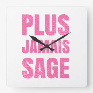 Plus Jamais Sage - Naughty Girl or Boy Square Wall Clock