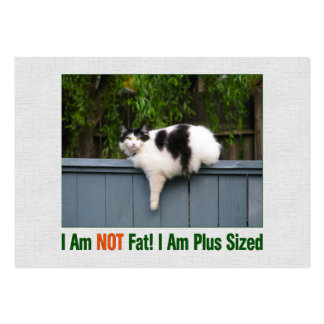 Plus Sized Kitty Large Business Card