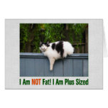 Plus Sized Kitty Stationery Note Card