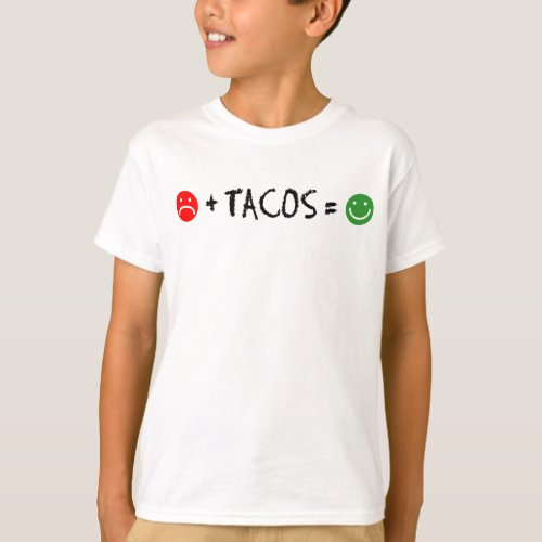 Plus Tacos Equals Happiness T_Shirt