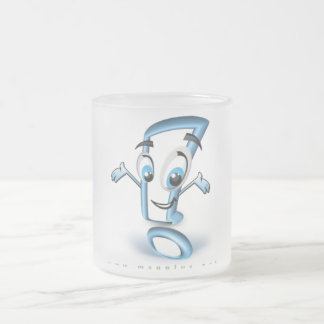 ¡Plusee! Vidrio esmerilado 10oz Taza De Cristal