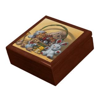 Plush basket keepsake box
