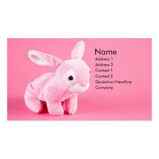 Plush Bunny Profile Card Business Cards