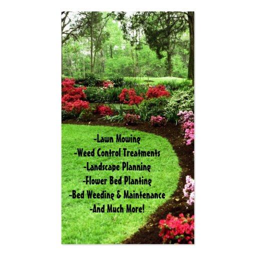 Plush Green Landscape Lawn Care Business Business Card Templates - Lawn care business card templates