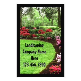 Plush Green Landscape Lawn Care Business Flyers