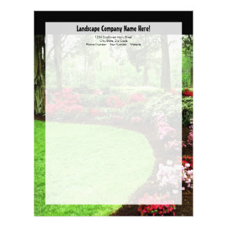 Plush Green Landscape Lawn Care Business Letterhead