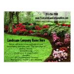 Plush Green Landscape Lawn Care Business Postcard