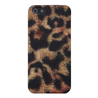 Plush Leopard Print iPhone SE/5/5s Cover