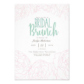 Plush Peony Bridal Brunch Invitation