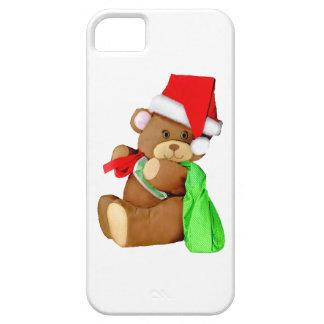 Plush Teddy Bear Dressed as Santa Claus iPhone 5 Cover