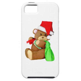 Plush Teddy Bear Dressed as Santa Claus iPhone 5 Cases
