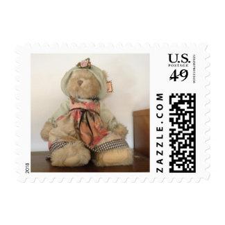 Plush Teddy Bear Toy Postage Stamp