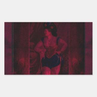 Plush Velvet Showgirl Rectangular Sticker