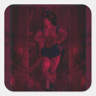 Plush Velvet Showgirl Square Sticker